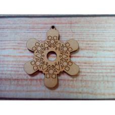 Skull Snowflake D2 Laser cut